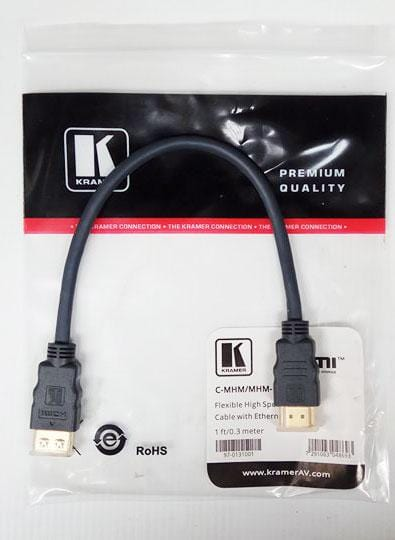 Kramer Flexible High Speed HDMI Cable - 0.3 Meter