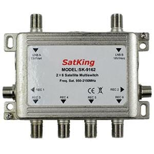 SatKing 2 in 6 out Multiswitch