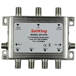 SatKing 3 in 6 out Multiswitch