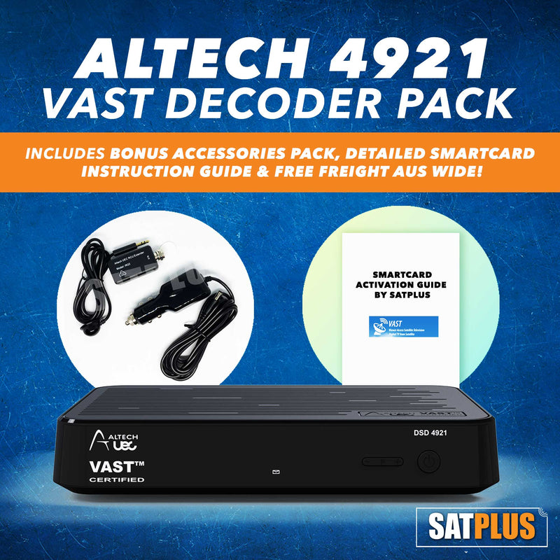 Altech 4921 RV VAST Certified Decoder with Built In 500GB HDD