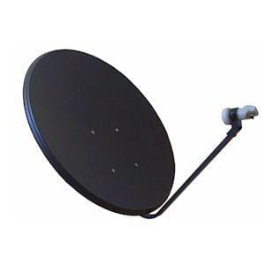 Complete Satellite TV Hardware Kit with 80 cm Dish