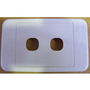 Clips 2 Gang Wallplate Surround