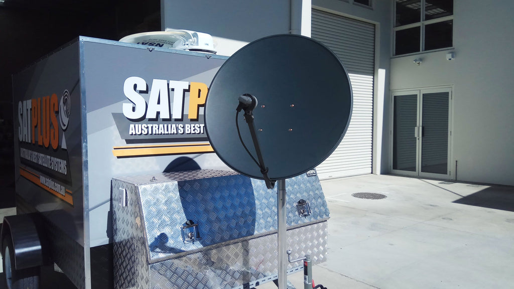 Drawbar pole suit satellite dishes (up to 90cm)