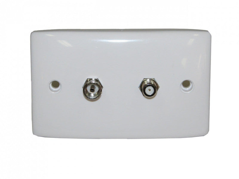 F Type and PAL TV Wallplate