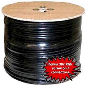 RG6 Quad Shield Cable 305 Metre Roll