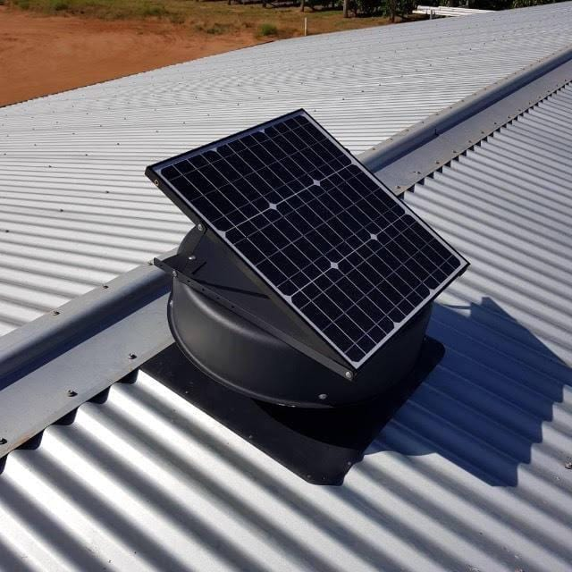 Solar Roof Ventilation Fan Outdoor Extraction Fan Home and Shed with BONUS EAVES VENT