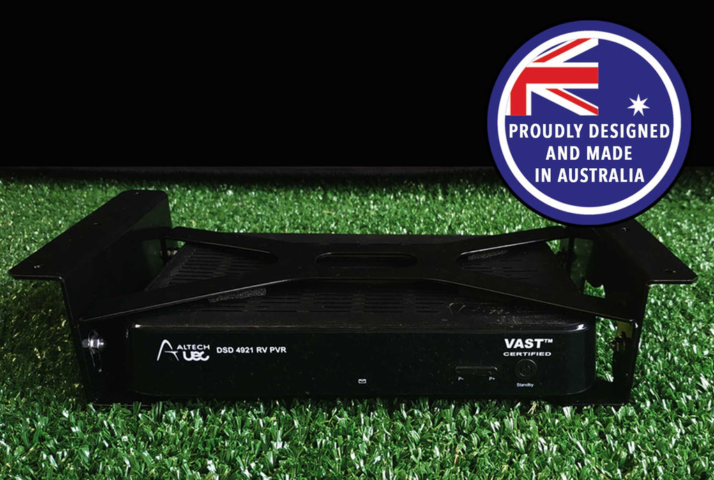 Custom made shelf bracket to suit Altech UEC 4921 PVR ready & PVR satellite decoders