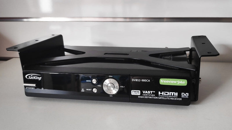 Custom made shelf bracket to suit the SatKing DVBS2-980CA Twin Tuner VAST Satellite TV Receiver