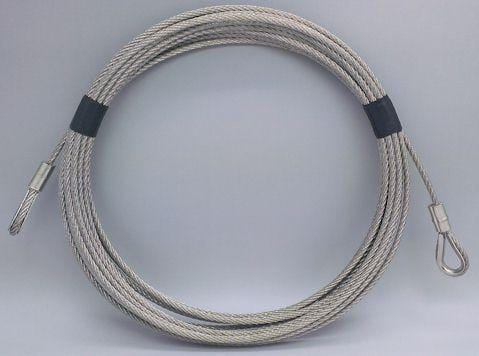 Stainless steel security wire with eyelets - 6M LENGTH