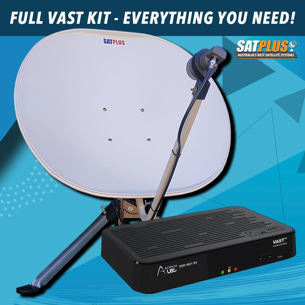 SatPlus Travel TV VAST Mobile Caravan Satellite System