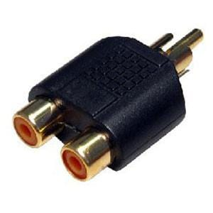 RCA Male to Twin RCA Female Adapter