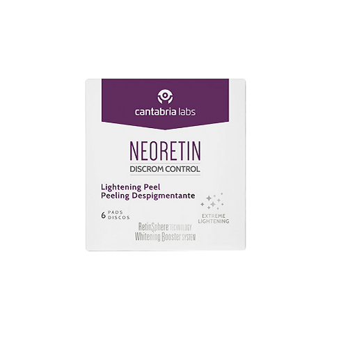 neoretin pigmenation lightening peel pads
