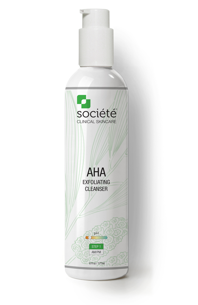 societe AHA exfoliating cleanser