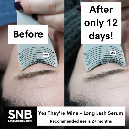 simply naked beauty yes they're mine lash growth serum before and after photo