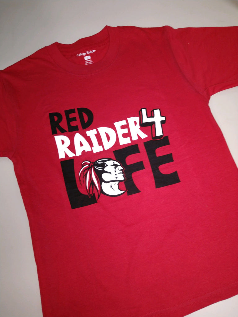 Red Raider 4 Life Youth T-shirt