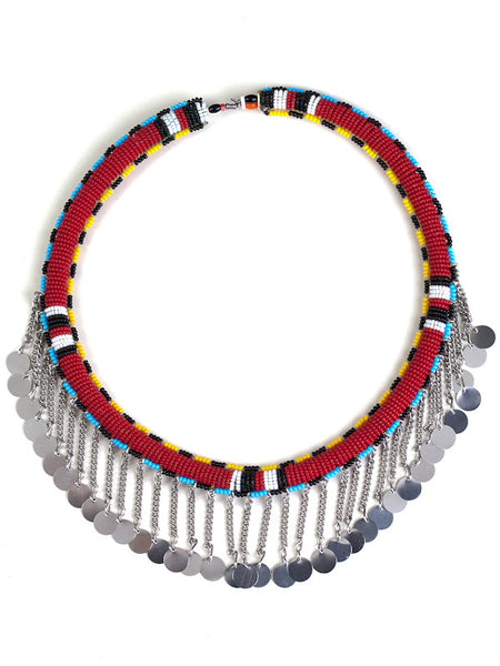 Tube Necklace - Red
