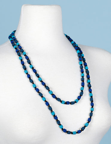 Ocean Depths Single Strand Jalaba Wrap Necklace