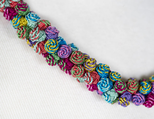 Multi-Colored Agave Cluster Necklace