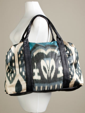 Sea Meets Land Ikat Duffle Bag