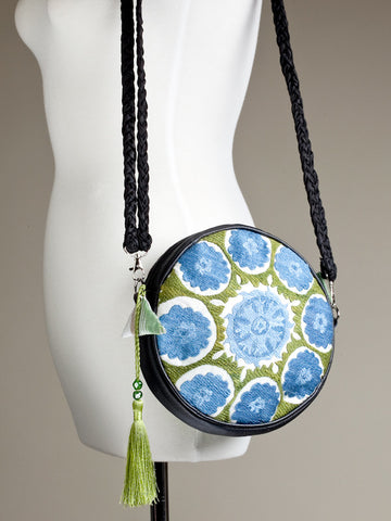 Green and Blue Floral Suzani Bag