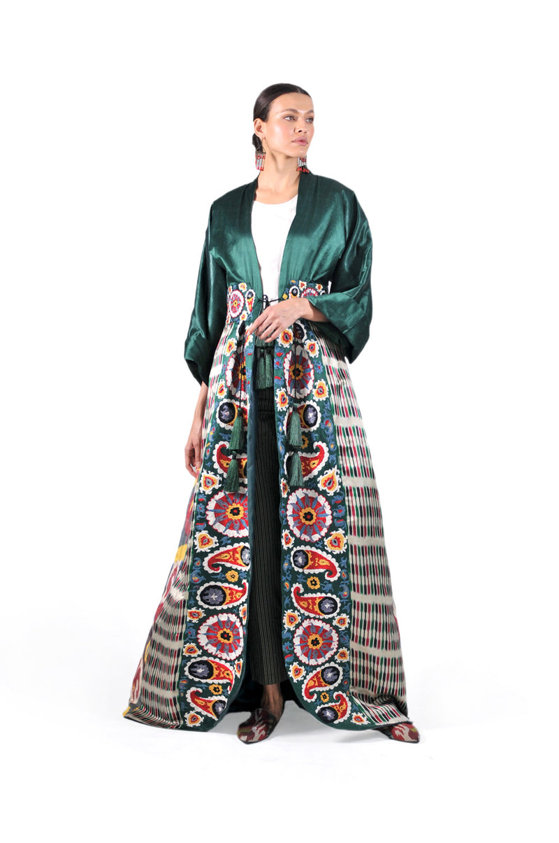 Bushra One-of-akind Suzani Ikat Kaftan