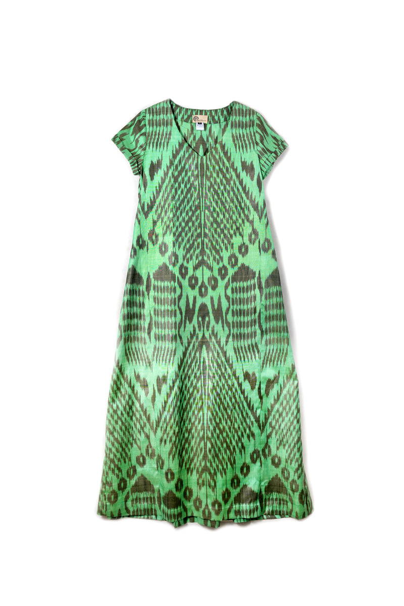 V-Neck Ikat Dress