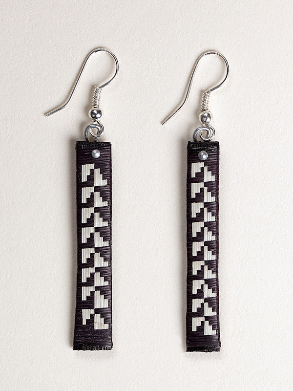 Geometric Lines Woven Earrings