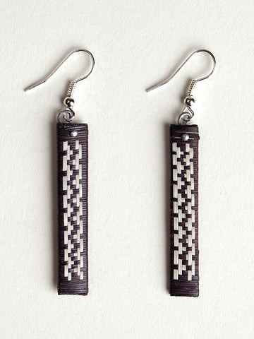 Forest Lines Woven Caña Flecha Earrings