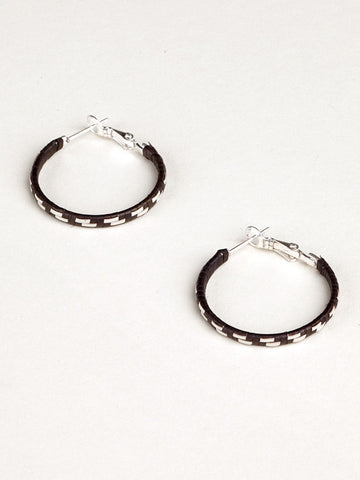 Woven Hoop Caña Flecha Earrings