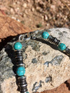 Turquoise and Silver Bead Tuareg Necklace