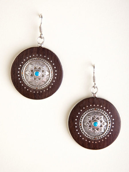 Ebony Circle Earrings I