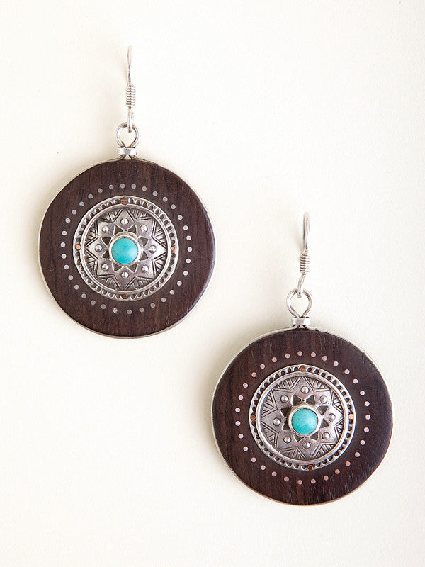Ebony Circle Earrings