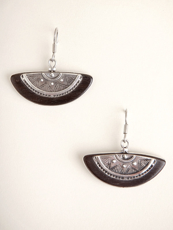 Ebony half-moon earrings