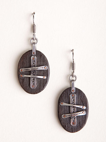 Ebony Shield Earrings
