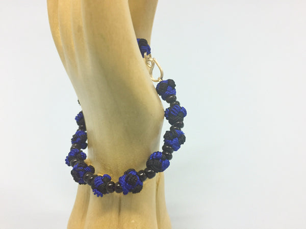 Blue and Black Jalaba Bead Bracelet
