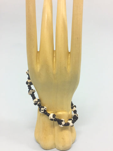Black and White Jalaba Bead Bracelet