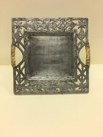 Large Open Square Serving Tray