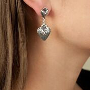 Joyas Cachi, Peru, Silver, Heart, Earrings