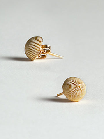 Gold Filigree Stud Earrings