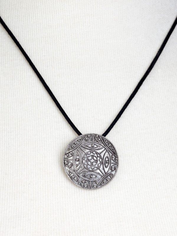 Weaver's Dream Damask-Style Filigree Pendant