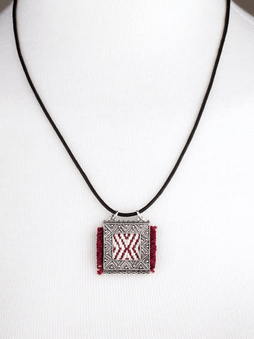 Red Woven Pendant