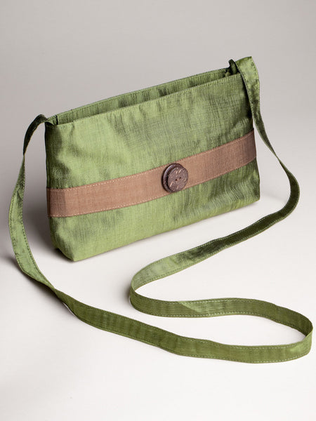 Coconut Button Bag - Green