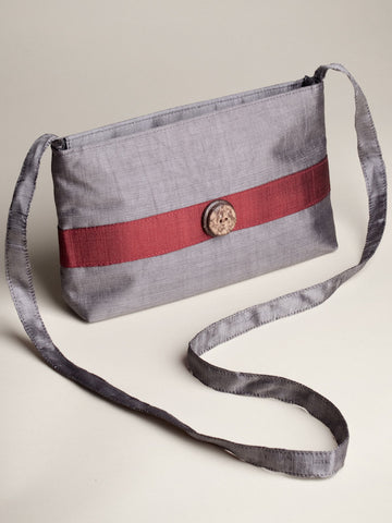 Coconut Button Bag - Grey