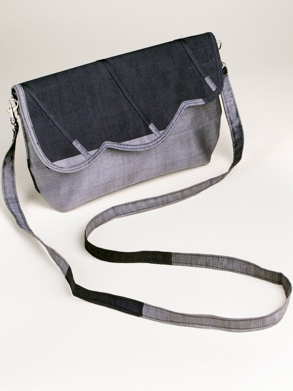 Scalloped Bag - Grey