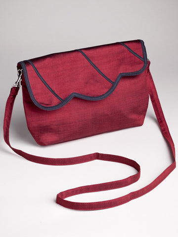 Scalloped Bag - Red