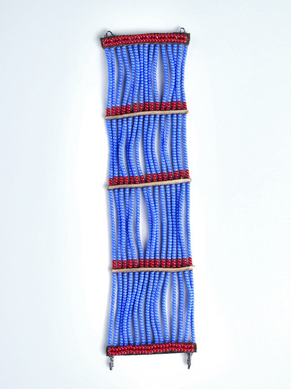 Beaded Wrap Bracelet - Blue