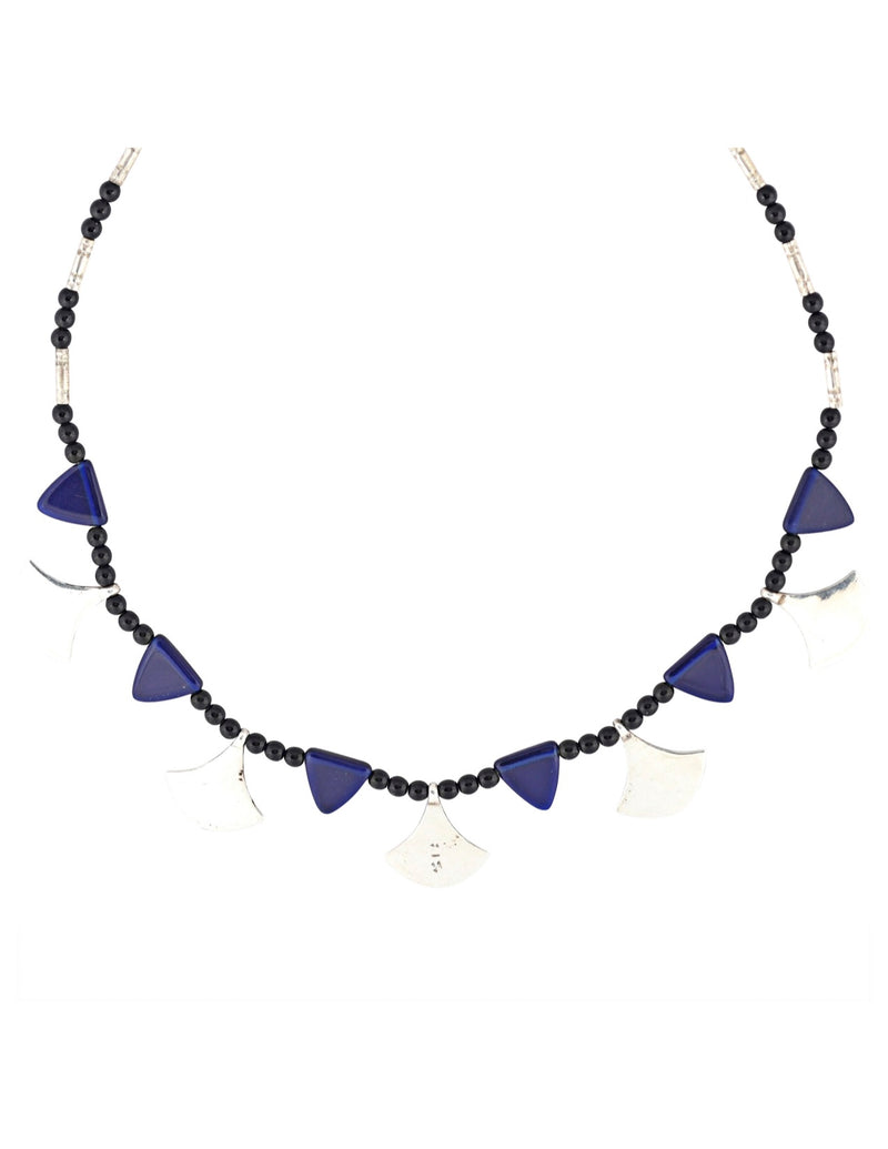 Chat Chat Necklace with Sapphire Glass
