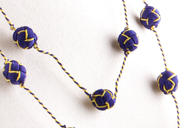 Blue and Yellow Jacquard Ball Wrap