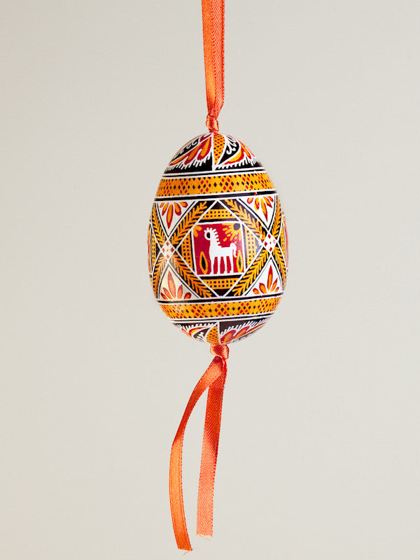 Pysanka Goose Egg Ornament - Design 21