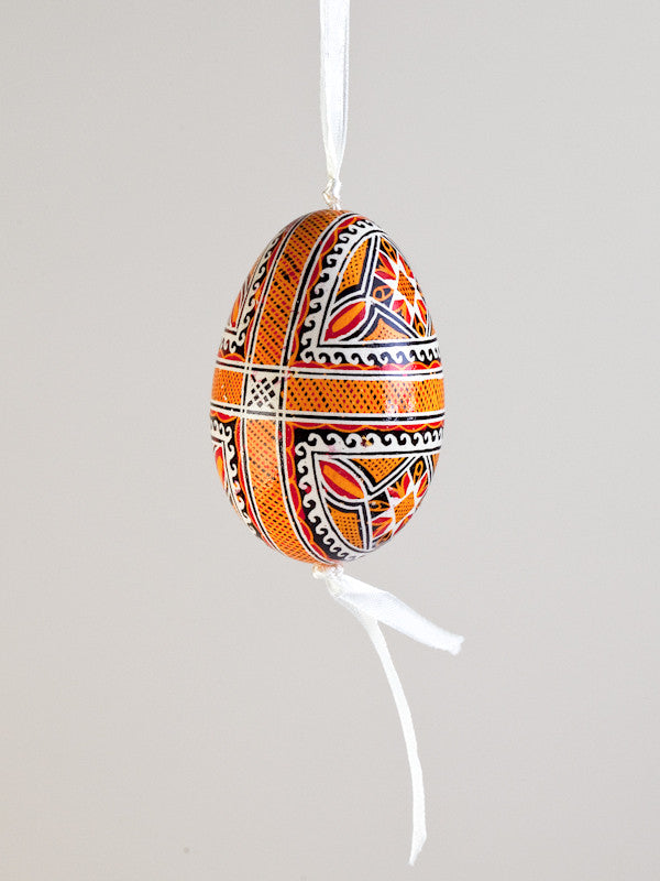Pysanka Goose Egg Ornament - Design 22